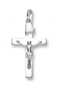 Sterling Silver Crucifix on flat cross pendant 1.7g